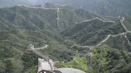 Great Wall in China 27 neutral high dynamic color DOLLY Stock Video Footage