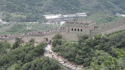 Great Wall in China 29 neutral high dynamic color Stock Video Footage