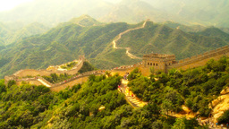 Great Wall in China 33 stylized artsoft diffusion Footage