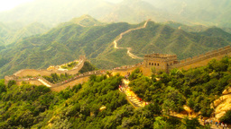 Great Wall in China 33 stylized artsoft diffusion Stock Video Footage