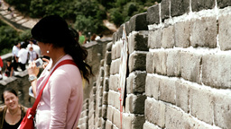 Great Wall in China 40 stylized filmlook DOLLY Stock Video Footage