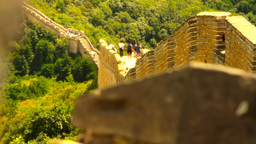 Great Wall in China 46 stylized artsoft diffusion Stock Video Footage