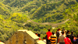 Great Wall in China 48 stylized artsoft diffusion DOLLY Stock Video Footage