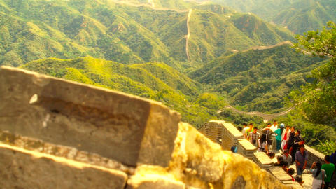 Great Wall in China 50 stylized artsoft diffusion Footage