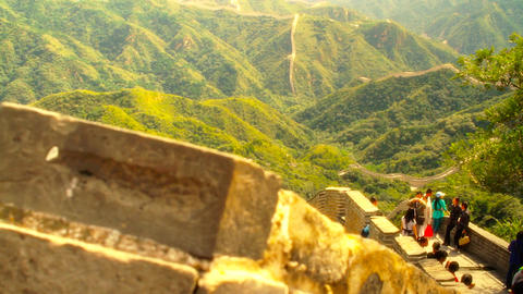 Great Wall in China 50 stylized artsoft diffusion Stock Video Footage