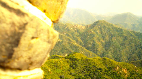 Great Wall in China 52 stylized artsoft diffusion Stock Video Footage