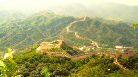 Great Wall in China 54 stylized artsoft diffusion Footage