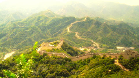 Great Wall in China 54 stylized artsoft diffusion Stock Video Footage