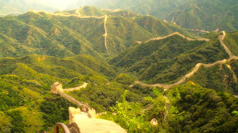 Great Wall in China 56 stylized artsoft diffusion DOLLY Stock Video Footage
