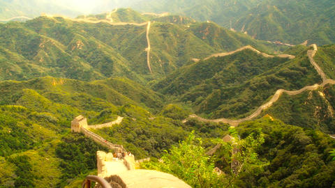 Great Wall in China 56 stylized artsoft diffusion DOLLY Footage