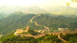 Great Wall in China 58 stylized artsoft diffusion Stock Video Footage