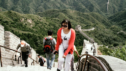 Great Wall in China 60 stylized filmlook Stock Video Footage