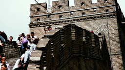 Great Wall in China 62 stylized filmlook DOLLY Stock Video Footage