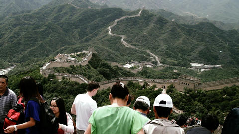 Great Wall in China 65 stylized filmlook DOLLY Stock Video Footage