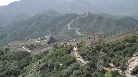 Great Wall in China 67 neutral high dynamic color Stock Video Footage