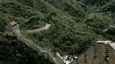 Great Wall in China 69 stylized filmlook Stock Video Footage