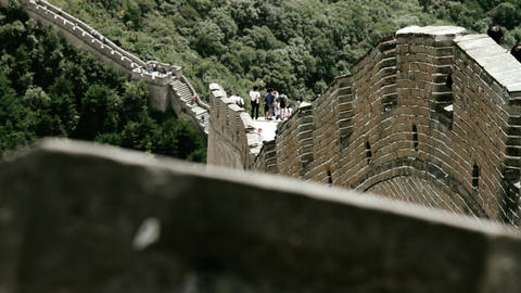 Great Wall in China 73 stylized filmlook DOLLY Stock Video Footage