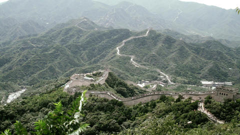 Great Wall in China 81 stylized filmlook Stock Video Footage