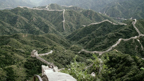 Great Wall in China 83 stylized filmlook DOLLY Stock Video Footage