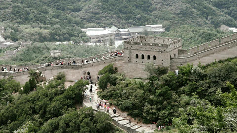 Great Wall in China 85 stylized filmlook Stock Video Footage