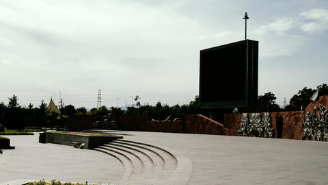 Olympic Games Location in Beijing China Bigscreen  Footage