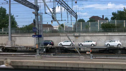 Through Train Window Switzerland 06 Stock Video Footage