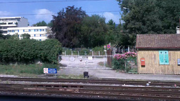 Through Train Window Switzerland 10 Nyon Station Stock Video Footage