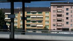 Through Train Window Switzerland 10 Nyon Station Stock Video Footage