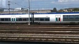 Through Train Window Switzerland 14 Geneva Station Stock Video Footage