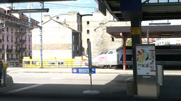 Through Train Window Switzerland 16 Geneva Station Stock Video Footage