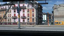 Through Train Window Switzerland 16 Geneva Station Stock Video Footage