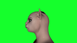 Morphing Girl Stock Video Footage