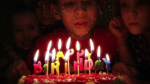 Blowing out candles Stock Video Footage