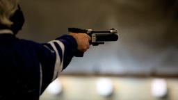 bullet shooting Stock Video Footage