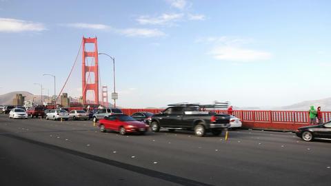 Golden Gate Bridge Traffic Stock Video Footage