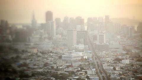 Downtown San Francisco, time lapse Stock Video Footage