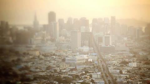 Downtown San Francisco, time lapse Footage