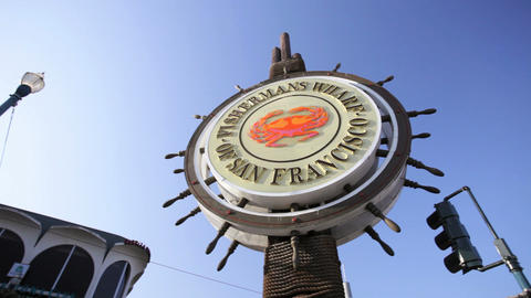 Fisherman's Wharf Sign Footage
