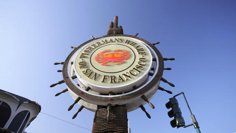 Fisherman's Wharf Sign Stock Video Footage