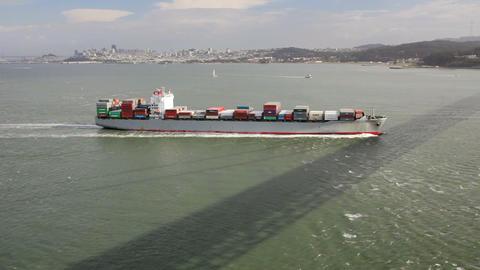 Cargo Ship Stock Video Footage