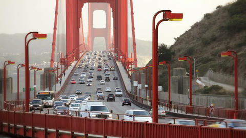 Golden Gate Bridge Time Lapse Stock Video Footage