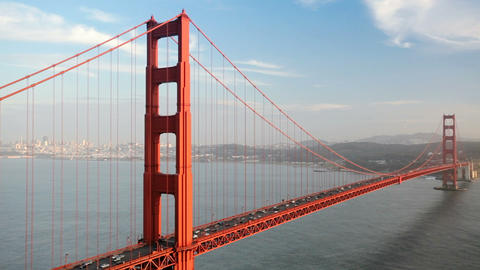 Golden Gate Bridge Traffic Stock Video Footage