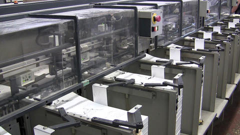 Printing factory Footage