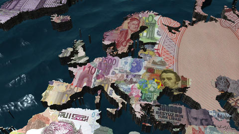 European Financial World Stock Video Footage