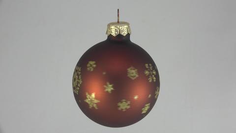 Christmas Toy. Shiny brown ball. 4K Footage