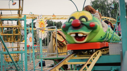 Amusement ride handheld editorial Footage
