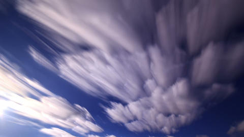 Bright clouds. Clouds blurred. Time Lapse. 1280x72 Live Action