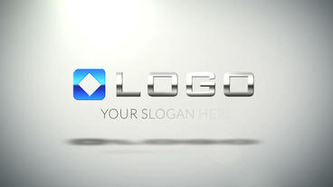 Elegant Corporate Business Logo 3D Elements Build stock footage