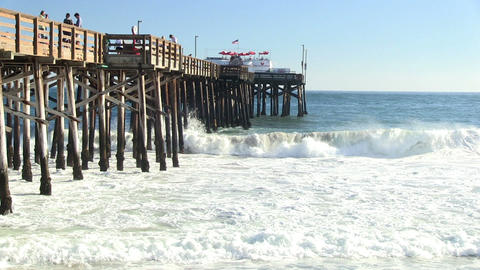 Newport Pier wide HD Footage
