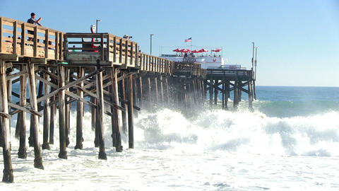 Newport Beach And Waves stock footage